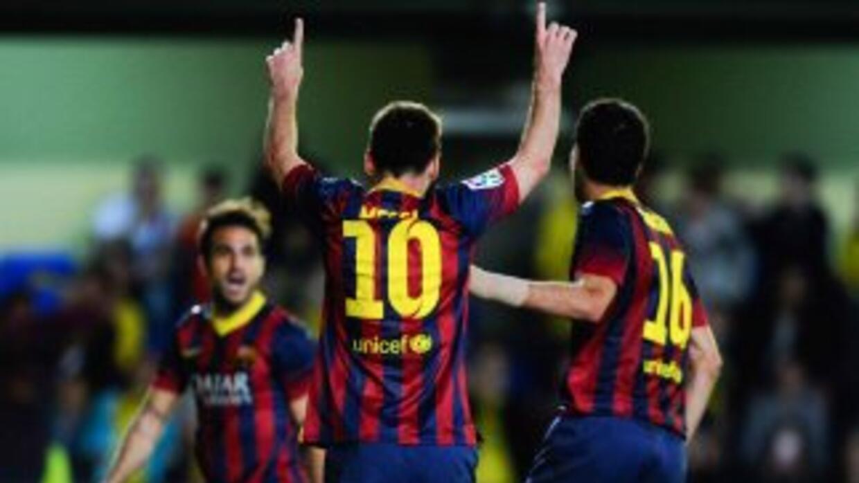 Messi agradecía la asistencia de Cesc para el gol del triunfo, mismo que...