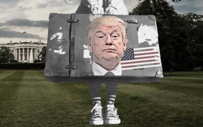 Imagen compuesta sobre el arribo de Donald Trump a la Casa Blanca.