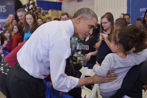 El presidente de Estados Unidos se mostró en todo momento muy cariñoso c...