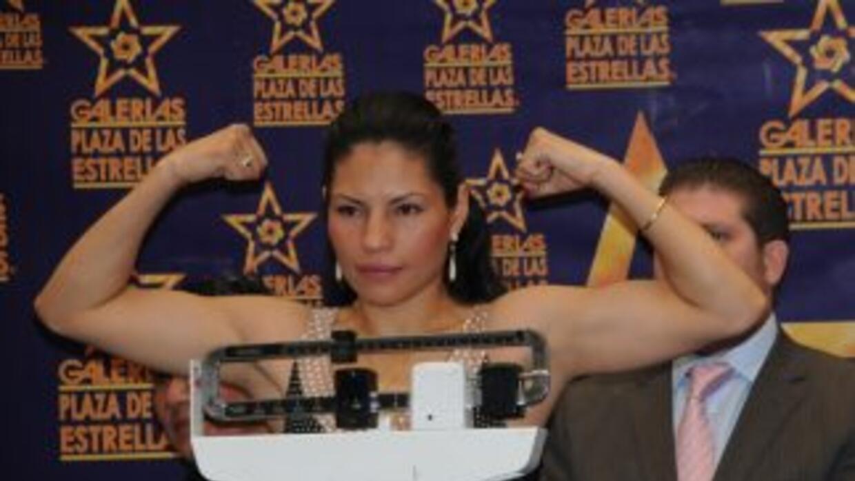 Ana María cumplió con el prepesaje que pide el CMB (Foto: HG Boxing)