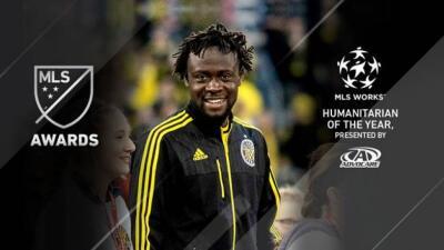 Kei Kamara fue distinguido como el jugador Humanitario del Año de...