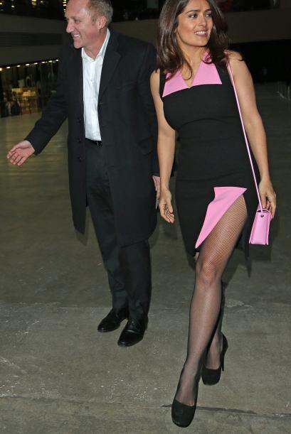 La pareja asistió al desfile de moda del diseñador Christopher Kane en L...