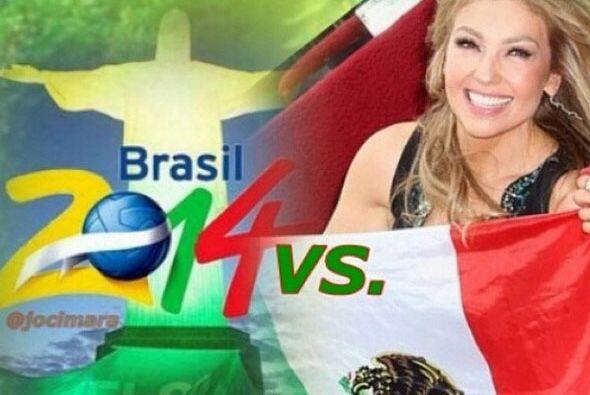 Thalía Todo sobre el Mundial de Brasil 2014.