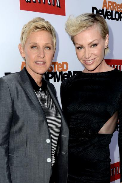 Ellen Degeneres y Portia de Rossi Quizá la pareja lesbiana más famosa de...