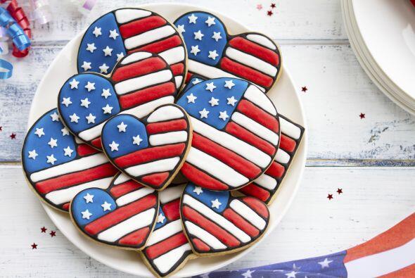 Otro ejemplo de galletas con la bandera estampada.   Cocina con sabor pa...