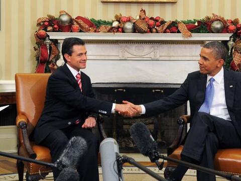 En el marco de su gira internacional como presidente electo, Peña...