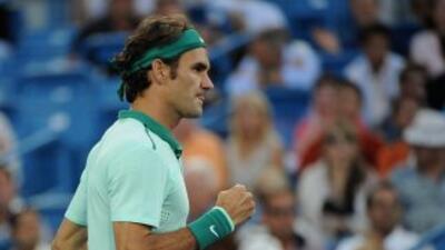 Roger Federer superó en tres sets al francés Gael Monfils.