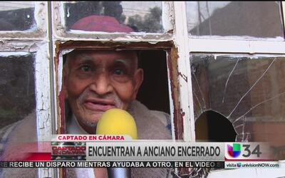 Anciano de 92 años fue encerrado una semana sin comida ni baño por sus s...