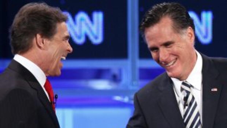Los republicanos Rick Perry y Mitt Romney afirmaron que el grupo palesti...
