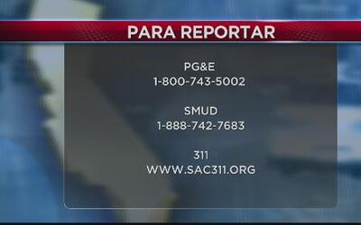 Números para reportar apagones