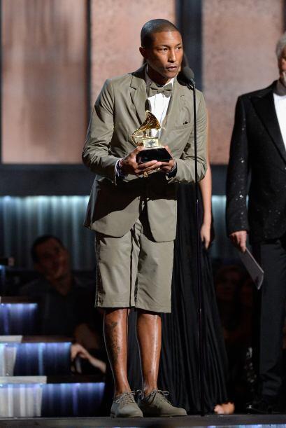 Otro de los grandes ganadores de la noche fue Pharrell Williams.