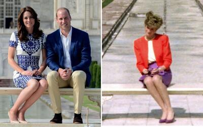 Los Duques y Lady Diana en el Taj Mahal.