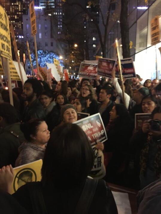 Protestan contra Trump