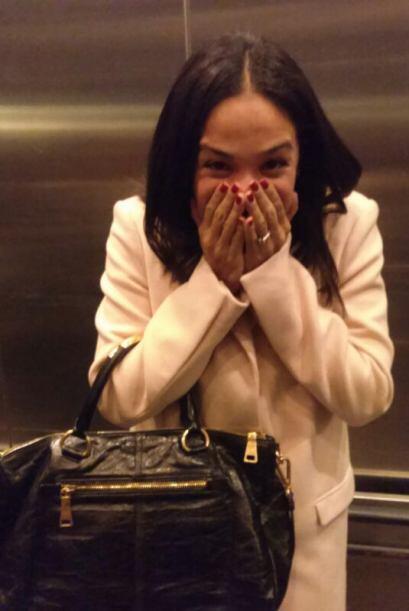 Karla Martínez estaba muy emocionada a su llegada a los estudios de Good...