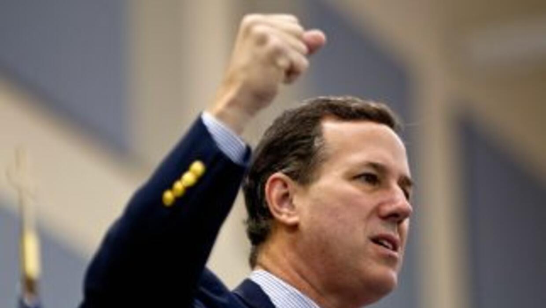El pre candidato presidencial republicano Rick Santorum.