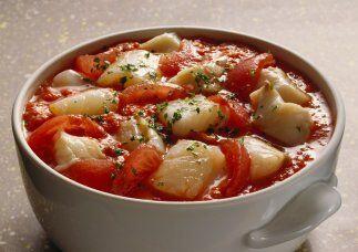 BACALAO A LA VIZCAINA - La receta original proveniente de España la pone...
