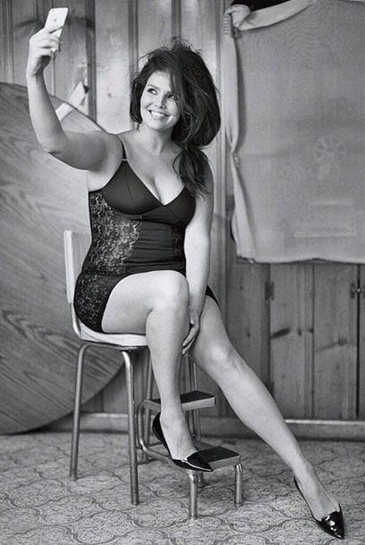 Esta mujer sale del clásico estereotipo de belleza, una mujer delgada y...