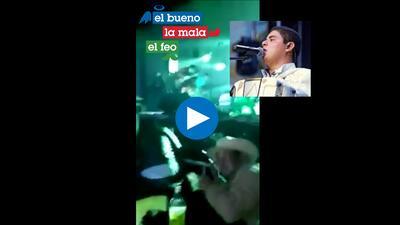 Momento en que disparan a cantante Alfredo Olivas en pleno concierto