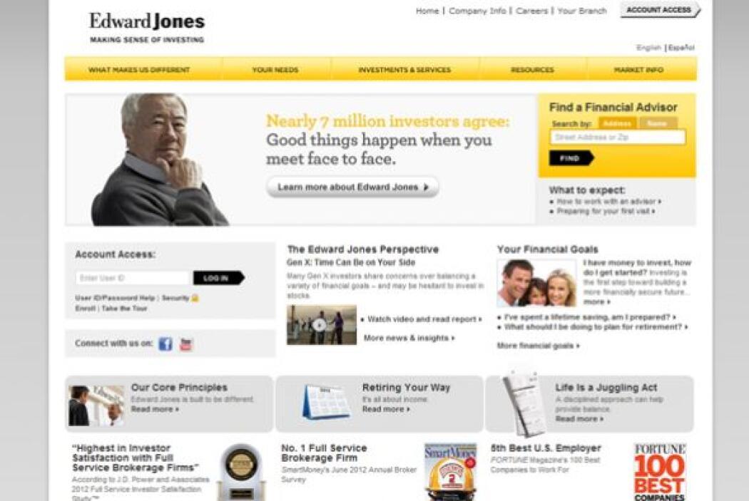 5.EDWARD JONES-  Número de empleados-36,937.  Industria- Servicios Finan...