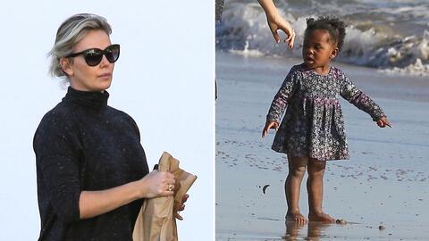 Charlize Theron tuvo un día muy lindo con sus hijitos.