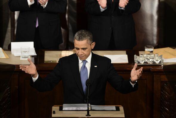 En su informe sobre el Estado de la Nación, el presidente Barack Obama p...