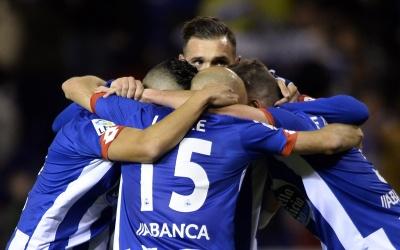 El Deportivo celebra el triunfo sobre Celta.