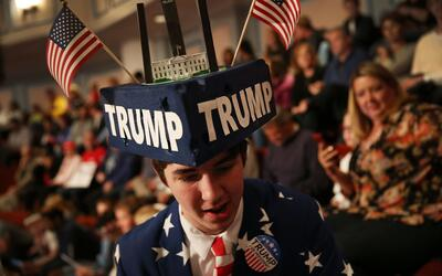 SImpatizante de DOnald Trump en un evento en Indiana