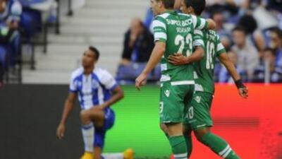 El Sporting de Lisboa celebró en Oporto.