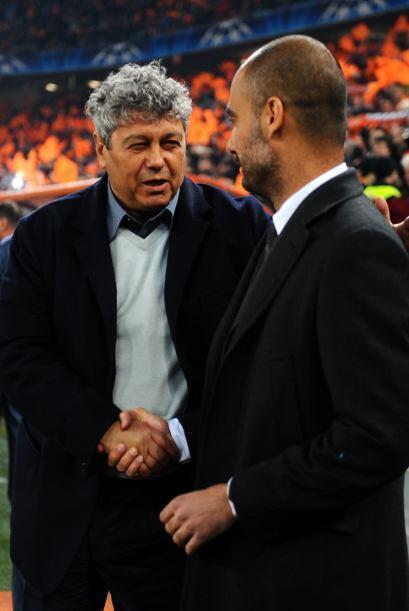 Lucescu saludó al entrenador del Barcelona, Josep Guardiola.