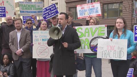 Ambientalistas y activistas en Chicago alzan su voz contra el nominado d...