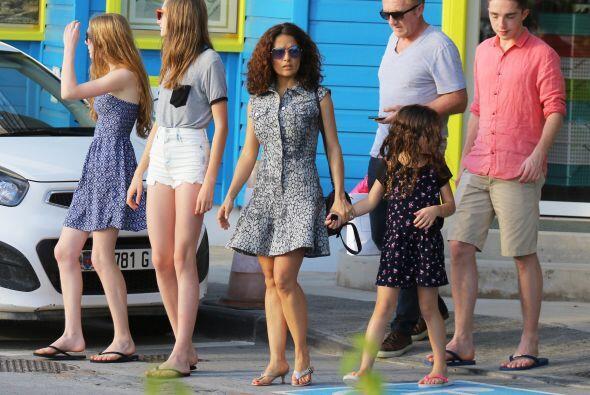 También lo estuvieron su hija Valentina y las hijas de Pinault co...