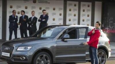 Las estrellas del Barcelona se pusieron a prueba frente al volante de lo...