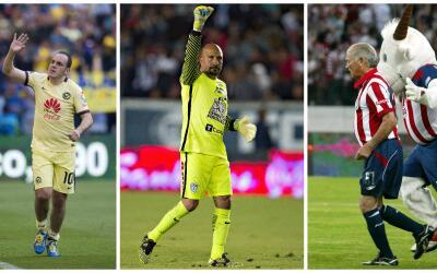Cuauhtémoc Blanco, Oscar Pérez y Salvador Reyes.