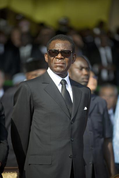 Guinea Ecuatorial. El presidente de este pequeño país en el desierto de...