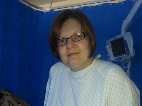 Shelley Maye de 34 años, sufría de síntomas como ca...