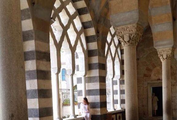 En la catedral de Amalfi.