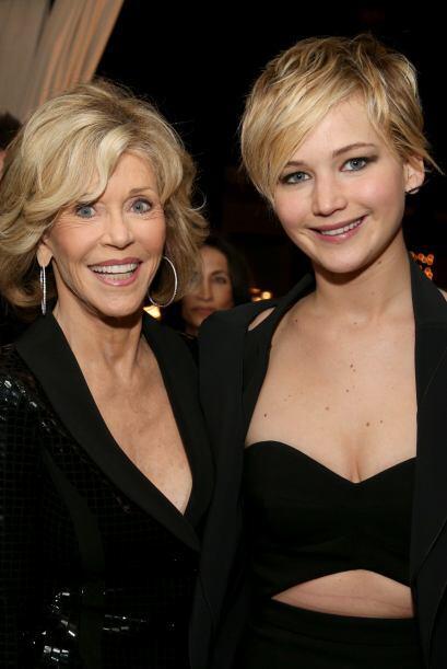 Jennifer Lawrence se topó con la legendaria Jane Fonda y obvio qu...