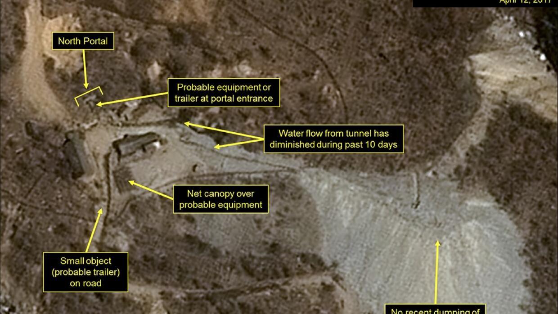 Imagen satelital sobre la actividad del régimen de Corea del Nort...
