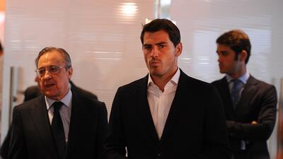 Casillas durante el evento donde se anunció su salida definitiva del Madrid
