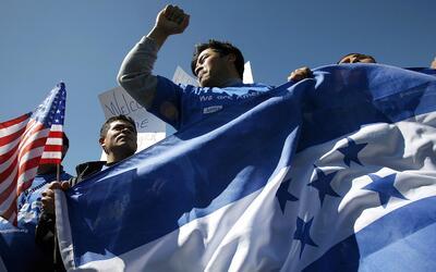inmigrantes hondureños en Estados Unidos.