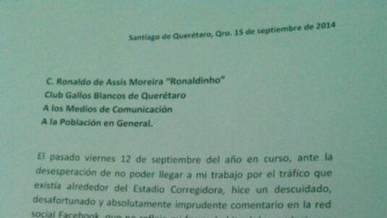 El funcionario mexicano espera ser perdonado por el brasileño