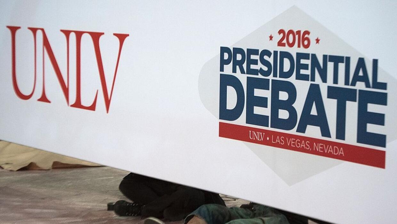 Preparativos para el tercer y último debate presidencial.
