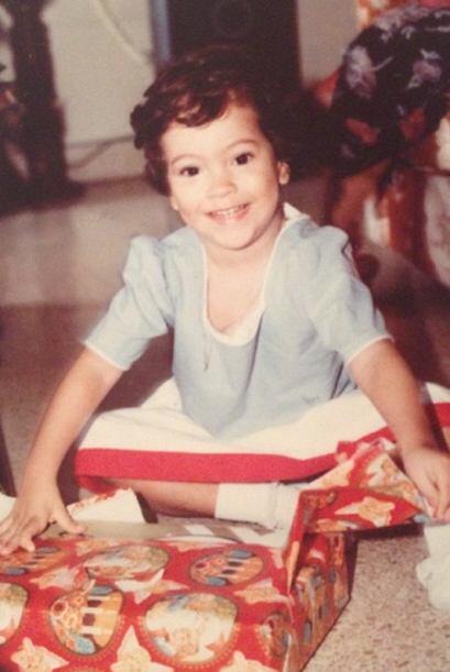 Una foto de sus primeras navidades. ¿Sabes quién es?
