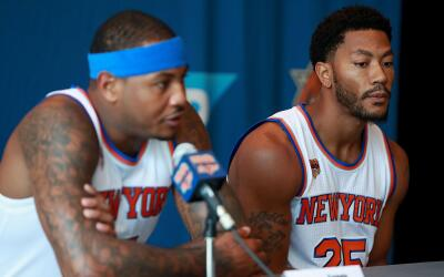 Carmelo Anthony y Derrick Rose buscarán tener una mejor temporada.