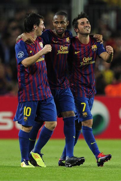 Messi, Keita y Villa le devolvían la sonrisa a sus hinchas.