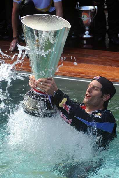 Al final, el ganador del Gran Premio de Mónaco terminó la fiesta en la p...