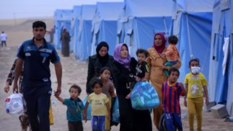 El número de refugiados y desplazados en el mundo ha alcanzado, por prim...