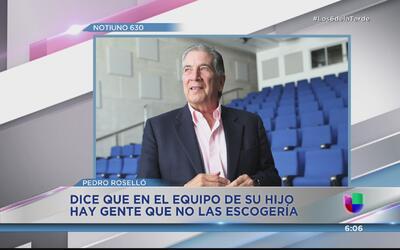 Pedro Rosselló no está de acuerdo con algunas decisiones de su hijo