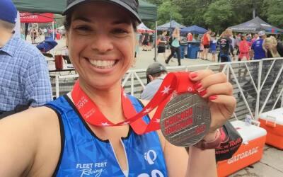 Érika Maldonado corrió el triatlón de Chicago y nos compartió sus fotos.