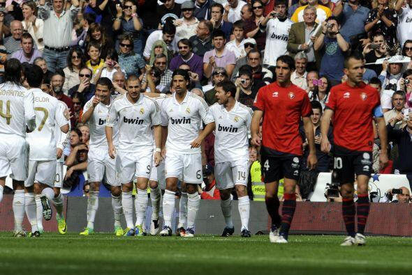 Marcador final de 7-1, sí, 7-1. Real Madrid anotó a placer ante Osasuna...